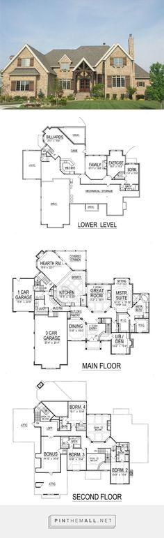 European Style House Plan - 5 Beds 6.00 Baths 7443 Sq/Ft
