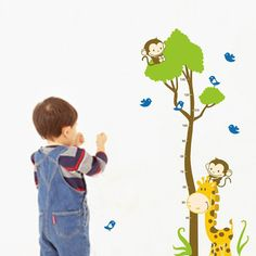 Zsiráf, majom, madarak magasságmérő gyerekszoba falmatrica.  #magasságmérő #zsiráf #majom #fa  #gyerekszobafalmatrica #falmatrica #gyerekszobadekoráció #gyerekszoba #matrica #faldekoráció #dekoráció Kindergarten, Stickers, Cartoon, Children, Bath, Home Decor, Young Children, Boys, Bathing