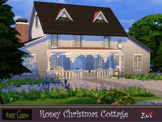 This cottage is cozy with all the warmth and the happiness a family needs to celebrate Christmas. Three bedrooms on the second floor. Found in TSR Category 'Sims 4 Residential Lots' Last Christmas, Toddler Christmas, Christmas Bedding, Star Wall, Sims Community, Electronic Art, Second Floor, Sims 4, Cottage