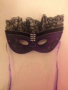 DIY Masquerade Mask www.facebook.com/uniquelyunhinged  To order a custom made mask.