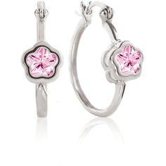 Rose BFlower Hoop Earrings for Girls from The Jewelry Vine