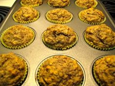 Mamma Chia Vegan Muffins- just used chia seeds and almond milk, and peanut butter instead of almond. Delish!!