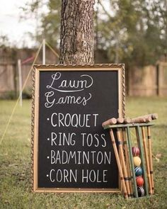 wedding games Lawn Games for an Outdoor Wedding Wedding Ceremony Ideas, Outdoor Wedding Games, Lawn Games Wedding, Outdoor Wedding Decorations, Wedding Tips, Wedding Events, Wedding Planning, Dream Wedding, Perfect Wedding