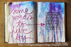 An art journal page