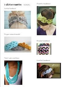 Tshirt Crafts and Headbands Tutorial