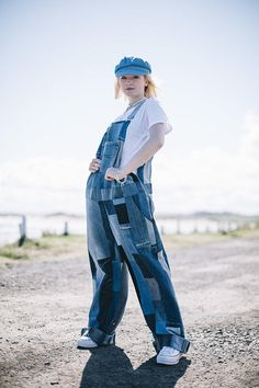Just Harry Unisex Upcycled Panelled Denim Dungarees Denim Dungarees, Upcycle, Unisex, Etsy, Upcycling, Repurpose, Recycling