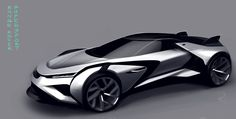 Oliver Cattell-Ford - Land Rover supercar sketch
