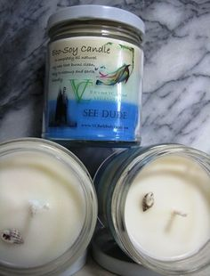 "SEE DUDE SOY CANDLE.    This candle reminds me very much of the fresh, clean and relaxing smell of a perfect light breeze blowing from the sea on a hot sunny day at the beach. See Dude isn't too musky or too spicy... It's ""just right"", and ""just right"" is very hard to find."