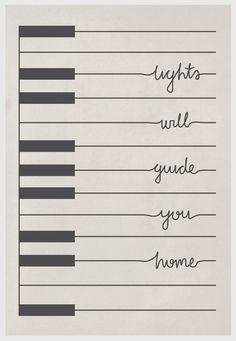 Coldplay Piano Fix You Art Print 8x10.   $15