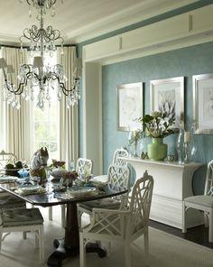 Love the wall color. Gary McBournie Inc. - Palm Beach Residence -  Dining Room