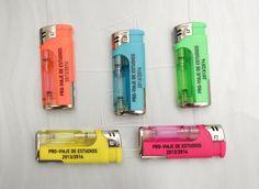Mecheros Gianni Neon mini con luz, mecheros personalizados con luz led