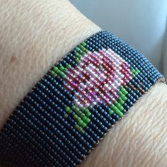 Loomed bead bracelet designed and made by Constant Smith
