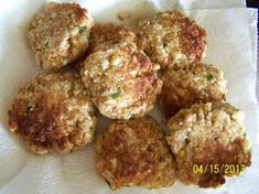 imitation crab meat crab cakes; these were a HUGE HIT. My mother asked me for the recipe (which she NEVER does). I would omit a bit of salt from the recipe and also use Panko breadcrumbs instead.