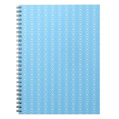 Delicate Soft Baby Blue Diamond Striped Pattern Notebook - patterns pattern special unique design gift idea diy
