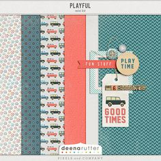 Playful mini kit freebie from Deena Rutter