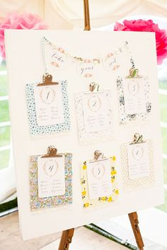 Handmade Vintage Inspired Wedding Table Plan Sitting Pinterest Plans And Tables