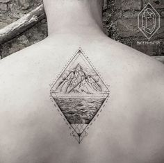 Geometric Landscape Tattoo by Bicem Sinik