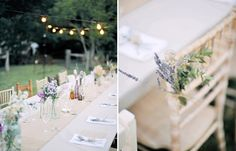 Lavender+herbs on chairs?  from oncewed.com