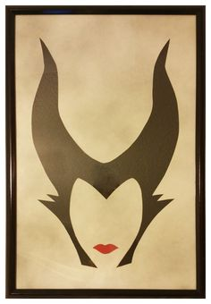 Handmade Minimalist Disney Maleficent Art Piece with Frame Disney Maleficent, Disney Villains, Dark Disney, Disney Art, Malificent Tattoo, Medusa Art, Princess Crafts, Female Villains, Angel Artwork