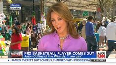 CNN Hypes Gay NBA Player's 'Bombshell' Announcement, One for the 'History Books'. It's sad when the average American could tell you more about a basketball player announcing he's gay than the trial of a baby mass murderer. 'LIKE' if you agree Nba Players, Basketball Players, Brooke Baldwin, Jason Collins, Tea Party Patriots, Conservative Republican, Cnn News, Choose Life, News Anchor