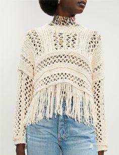 FREE PEOPLE - Higher Love cotton-blend open-knit jumper   Selfridges.comm