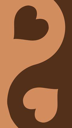 brown heart yin yang by y2krevival | Redbubble