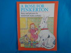 Vintage 1981 A Rose for Pinkerton book by Steven Kellogg by TheVintageKeepers on Etsy