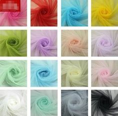 """5 meter by the yard Soft Mesh Gauze Fabric Solid Color 63"""" width DIY #9 #wd"""