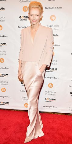 Look of the Day - December 2, 2014 - Tilda Swinton from #InStyle