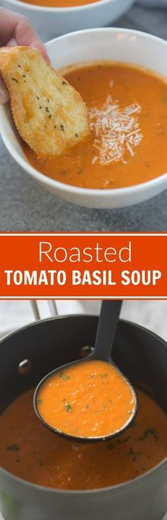 Easy and delicious Roasted Tomato Basil Soup   Tastes Better From Scratch