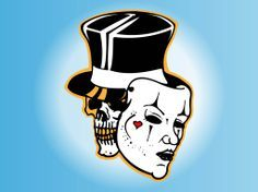Drama Faces Clip Art | skull with mask