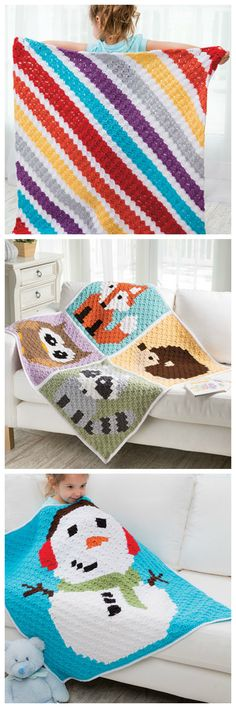 Corner-to-Corner Lap Throws For the Family crochet pattern book from Annie's Craft Store. Order here: https://www.anniescatalog.com/detail.html?prod_id=133674&cat_id=468