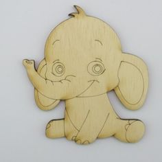 Items similar to Elephant - on Etsy Wood Pieces, Decoupage, Elephant, Shapes, Painting, Etsy, Events, Painting Art, Paintings