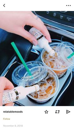 Yes, but not in the car. - # - s t u f f - Coffee Party Drinks, Cocktails, Alcoholic Drinks, Beverages, The Last Summer, Summer Fun, Alcohol Aesthetic, Partying Hard, Starbucks Drinks