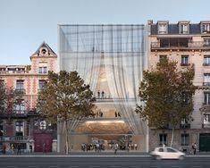 Shigeru Ban integra sala de conciertos y el ayuntamiento de comida en la propuesta parís réinventer   http://www.designboom.com/architecture/shigeru-ban-reinventer-paris-proposal-sully-morland-02-29-2016/