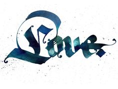 Dribbble - Calligraphy: Love by Pokras Lampas