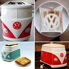 Guaranteed to make you smile every time the toast pops up. #campervan #vw #camping  www.worldofcamping.co.uk
