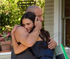 Fast and Furious 7 Set Photo: Vin Diesel Shares a Hug with Jordana Brewster
