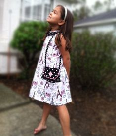 Uptown Girl - Girl's A-Line Dress Pattern PDF. Sewing Pattern for Girls.  Sizes 1-10 included. $7.95, via Etsy.