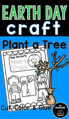Earth day craft for kids/ Earth day craft for elementary/ Plant a Tree New Year's Crafts, Summer Crafts, Crafts For Kids, Fathers Day Crafts, Valentine Day Crafts, Earth Day Activities, Activities For Kids, Earth Day Poems, Earth Day Coloring Pages