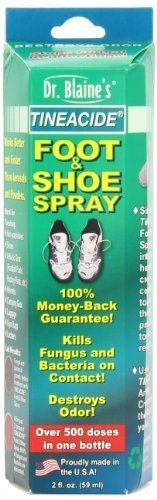 Dr. Blaine's Tineacide Foot And Shoe Spray 2-Ounce Bottle (Pack of 3)