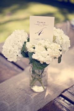 Simple white flowers with green stems.