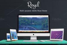 Royal Multipurpose Adobe Muse Theme by Nakshatra on @creativemarket
