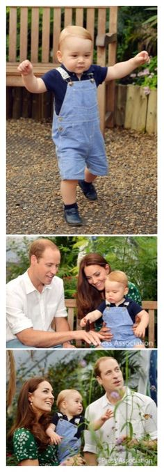 """A message from the Duke and Duchess of Cambridge: """"We would like to take this opportunity on George's first birthday to thank everyone over the last year, wherever we have met them, both at home and overseas, for their warm and generous good wishes to George and our family."""""""