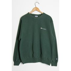 Green Champion Sweatshirt Ragstock ($25) ❤ liked on Polyvore featuring tops, hoodies, sweatshirts, green sweatshirt, champion sweatshirts and green top