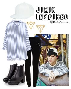 """""""Jimin Inspired Outfit"""" by btsoutfits ❤ liked on Polyvore featuring VILA and Zara"""