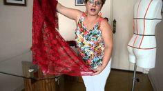 Como fazer saia com cauda sem recortar o barrado da renda - Aula 48