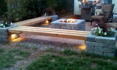 Cheap and easy backyard fire pit and seating area (1)