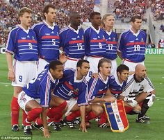 Zinedine Zidane's chances of being a success in the 'difficult' role of Real Madrid manager are slim, according to his former France team-mate - and fellow 1998 World Cup winner - Youri Djorkaeff. French Soccer Players, Best Football Players, 1998 World Cup, First World Cup, Lilian Thuram, French Rugby, World Cup Games, France Team, World Cup Champions