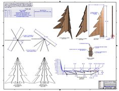 FOLD-FLAT, CHRISTMAS TREE - STEP / IGES,Parasolid,Autodesk Inventor - 3D CAD…